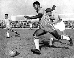 Pele during the 1958 World Cup